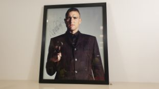 VINNIE JONES PERSONALLY SIGNED PICTURE - GOOD CONDITION WITH CERTIFICATE OF AUTHENTICITY