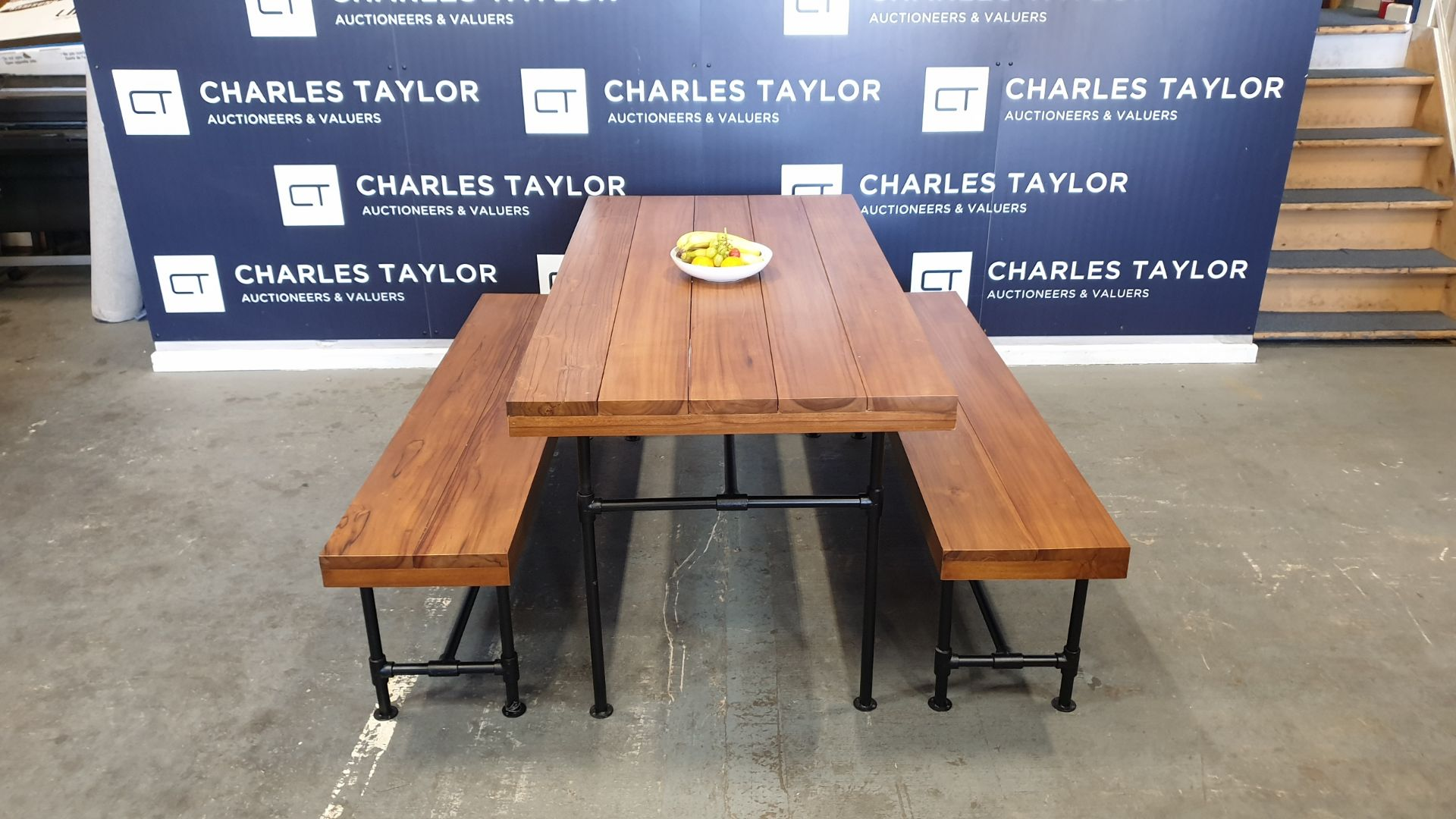 Lot 23 - BRAND NEW SOLID TEAK WOODEN 3 PIECE PIPE TABLE 160 X 160 X 76cm RRP £1550
