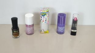 264 X BRAND NEW KUBISS LONDON LIPSTICK NO.35 PINK DAZZLE MODELS OWN AND STICKY FINGERS NAIL POLISH