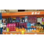 ASSORTED LARGE QUANTITY SCHWARZKOPF HAIR PRODUCT LOT INCLUDING GOT2B CURLING MOUSSE, VOLUMIZING