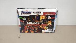 40 X BRAND NEW MARVEL AVENGERS GIANT COLOURING PAD SETS. INCLUDES COLOURING AND ACTIVITY PAD STICKER