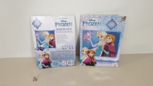 252 X BRAND NEW DISNEY FROZEN SEQUIN ART FUN, EACH INCLUDING 1 PICTURE, CLUE AND SEQUINS - IN 7