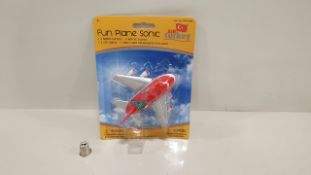 96 X FUN PLANE SONIC WITH LED LIGHTS IN 1 BOX (PPFP164BL) RRP £19
