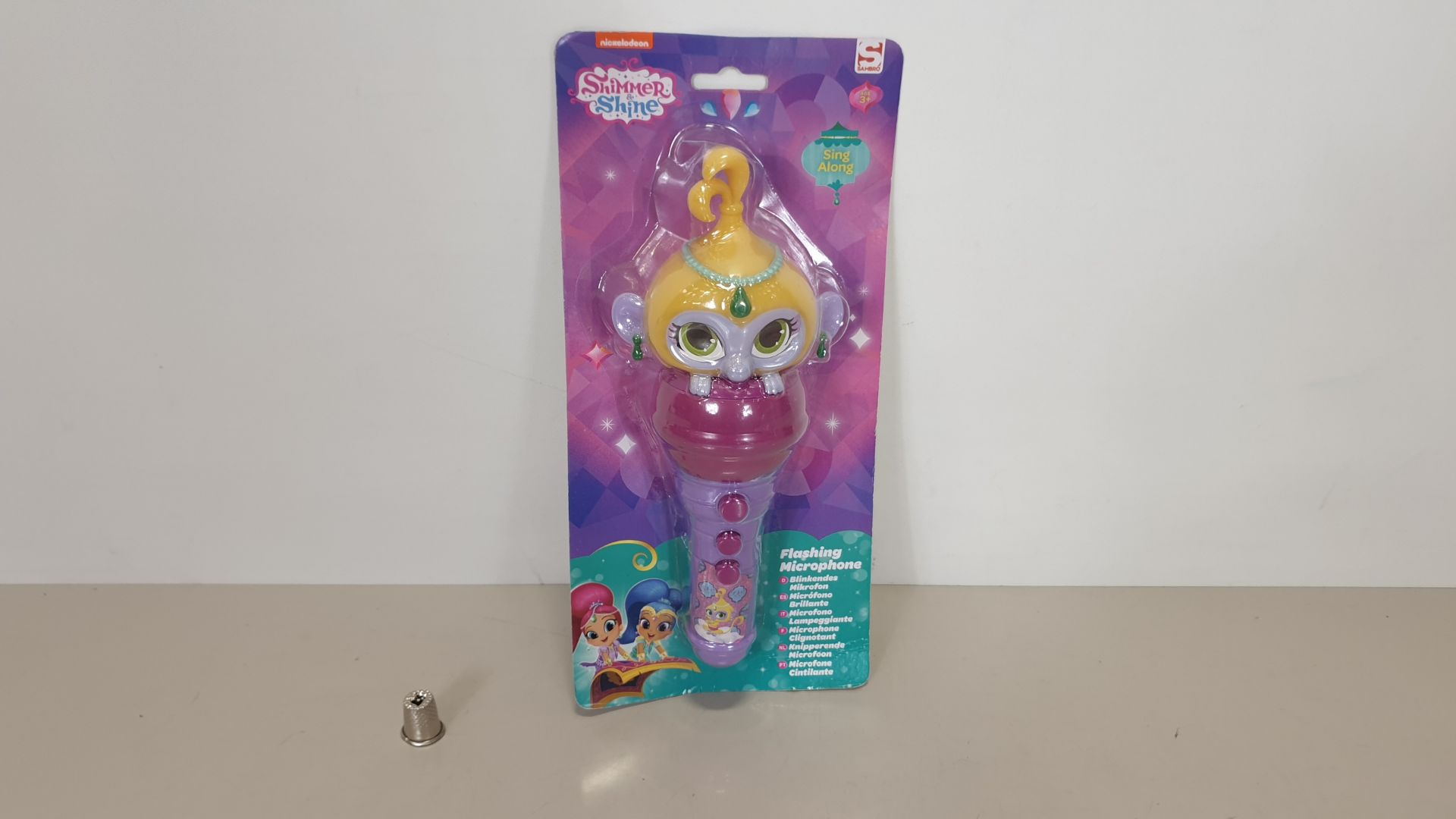 Lot 10 - 96 X BRAND NEW NICKELODEON SHIMMER AND SHINE SING ALONG FLASHING MICROPHONE - IN 8 BOXES