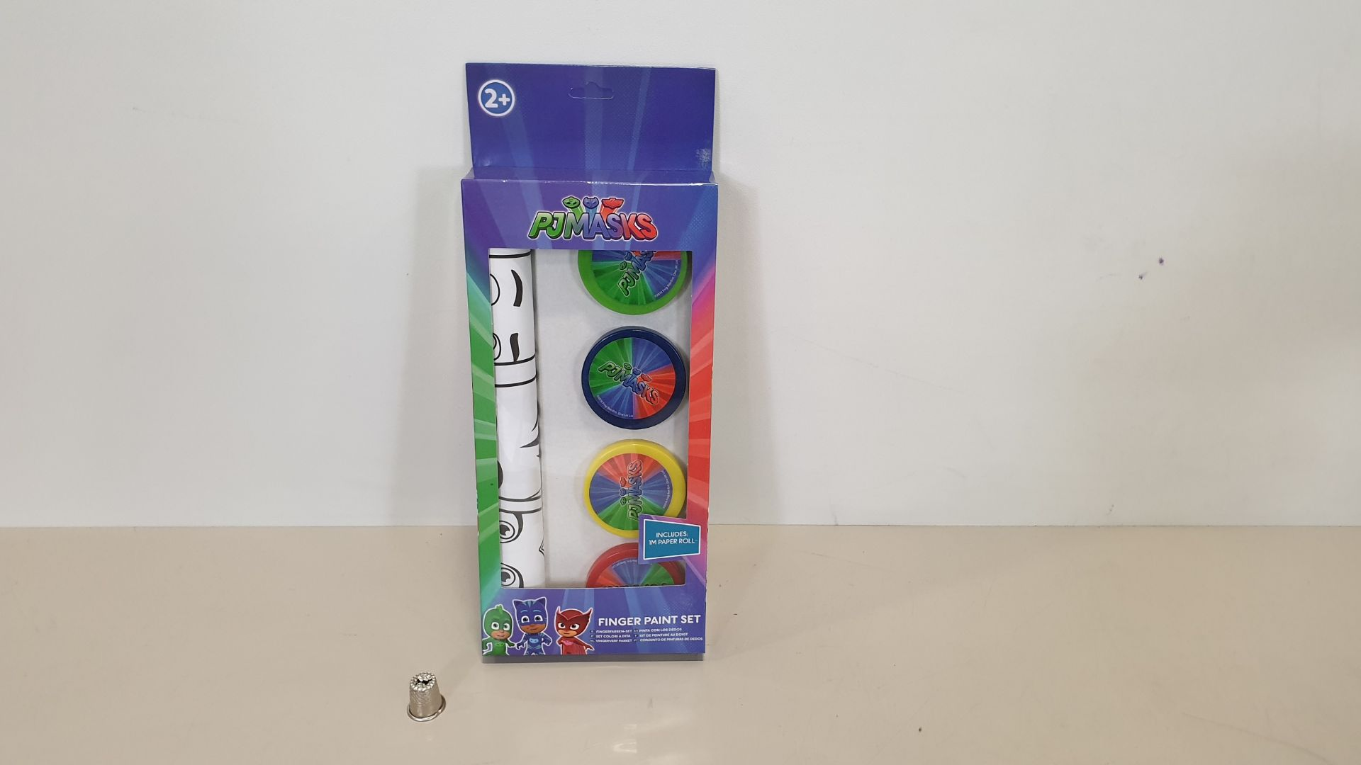 Lot 42 - 96 X BRAND NEW PJ MASKS FINGER PAINT SETS WITH PAPER ROLL - IN 8 BOXES