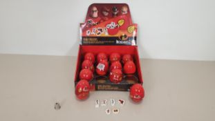 288 X INCREDIBLES SECRET EGG CHARACTER ERASERS CONTAINED WITHIN 24 MERCHANDISING CARDBOARD BOXES