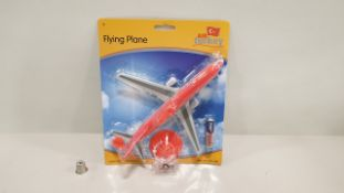96 X BRAND NEW FLYING PLANE TOY - BATTERY IS INCLUDED - AIRTURKEY DESIGN (FPFP164BL) - IN 2