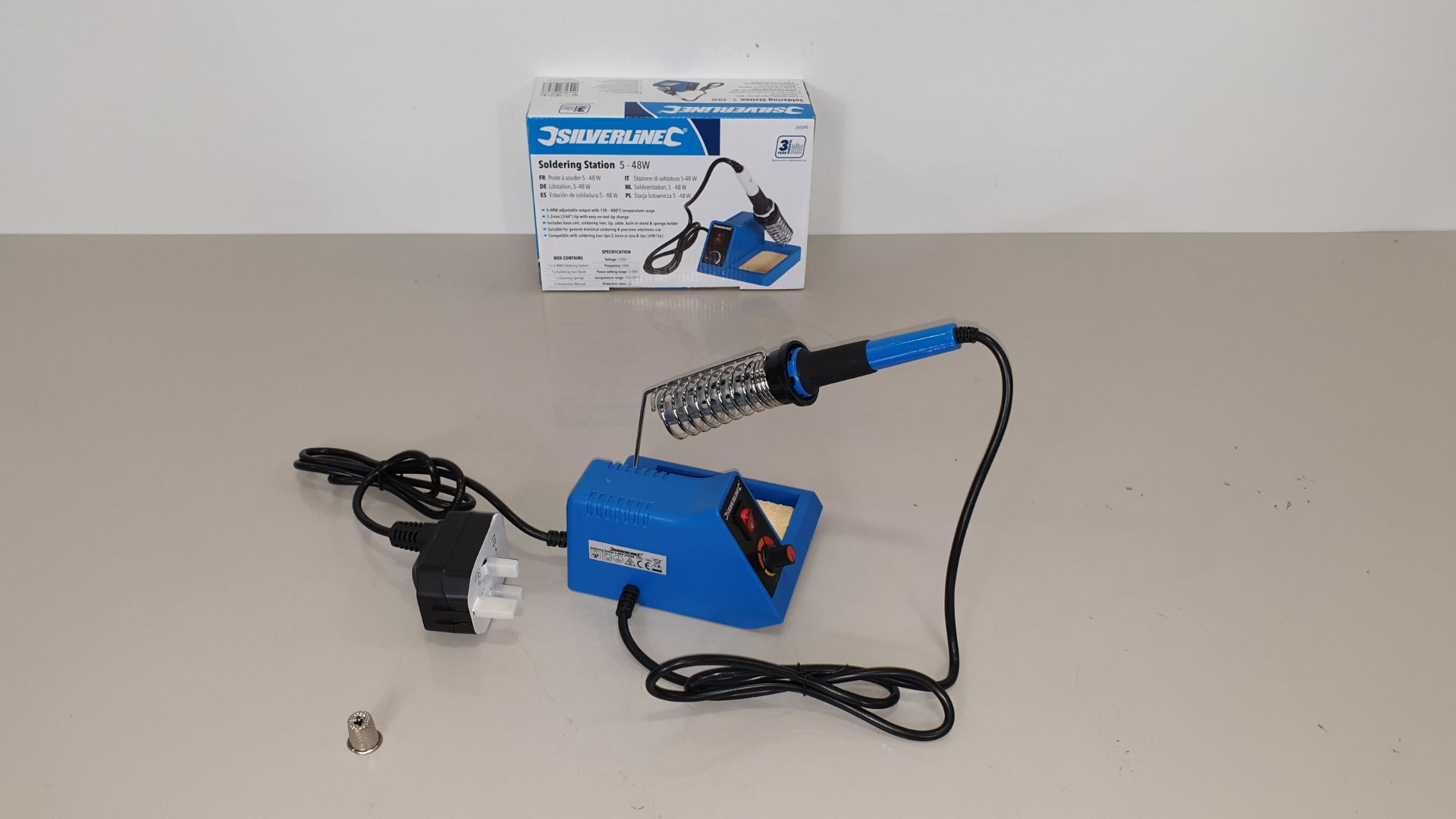 Lot 225 - 20 X BRAND NEW SILVERLINE SOLDERING STATIONS 5-48W (PROD CODE 245090) - TRADE PRICE £31.34 EACH (EXC