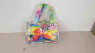 72 X BRAND NEW NICKELODEON JO JO SIWA LARGE BOW SHAPED TOTE BAGS IN 6 BOXES