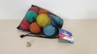 40 X BRAND NEW SUMMIT 10 PK OF BOUNCY BALLS - IN 4 BOXES