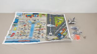 48 X BRAND NEW FUN PLANE AIRPORT SETS - INCLUDES 1 X FUN PLANE (BATTERIES INCLUDED), 1 ROAD MAP, 1