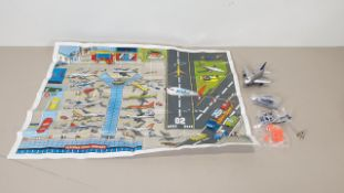 96 X BRAND NEW FUN PLANE AIRPORT SETS - INCLUDES 1 X FUN PLANE (BATTERIES INCLUDED), 1 ROAD MAP, 1