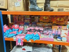50+ ASSORTED TOYS TO INCLUDE, JO JO SIWA TWIN BOW SETS,DREAMWORKS TROLL MAKE YOUR OWN HAIR
