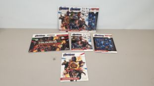 100 X BRAND NEW AVENGERS GIANT COLOURING PAD SET - IN 10 CARTONS