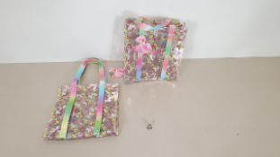 120 X JO JO SIWA TOTE BAGS - SMALL BOW DESIGN - IN 10 CARTONS