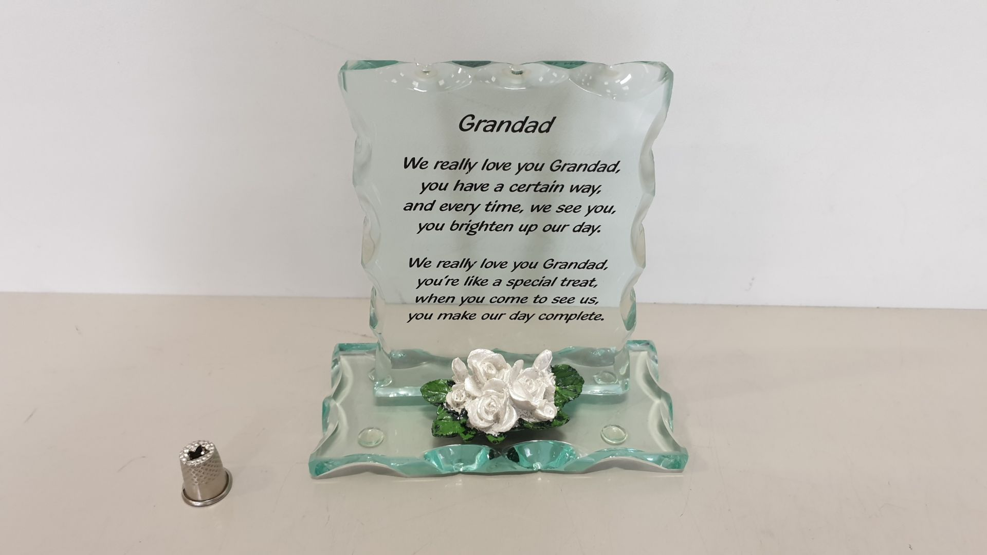 Lot 614 - 168 X BRAND NEW MAYFLOWER COLLECTABLES 'GRANDAD' GLASS MESSAGE - IN 14 BOXES