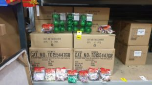 156 + PIECE BRAND NEW MIXED PREMIER CHRISTMAS LOT CONTAINING GLITTER BAUBLES AND BAGS OF CHRISTMAS