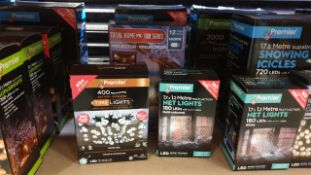 4 PIECE MIXED PREMIER SUPABRIGHTS LOT IE,TOTAL HOME FX 800SERIES PROJECTOR WITH 12 CHRISTMAS VIDEOS,
