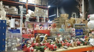 APPROX 140 PIECE MIXED PREMIER CHRISTMAS LOT CONTAINING, 35CM WHITE TRUCK WITH XMAS TREE SCENE,