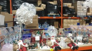 APPROX 90 PIECE MIXED PREMIER CHRISTMAS LOT CONTAINING, 40CM LYING SANTA WITH JUMPER AND SACK, FIBRE