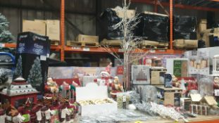APPROX 120 PIECE MIXED PREMIER CHRISTMAS LOT CONTAINING,80CM FIBRE OPTIC TREES, 4 LED LARGE LIGHT