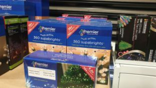 MIXED PREMIER LIGHTS LOT CONTAINING 9 PIECES IE 36M GOLDEN GLOW SUPA BRIGHTS, 20, MULTI ACTION