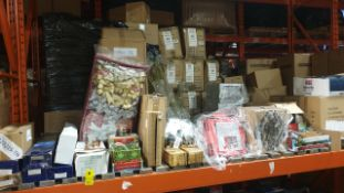 APPROX 200 PIECE MIXED PREMIER CHRISTMAS LOT CONTAINING, FIBRE OPTIC TREE, LED TREES, CHRISTMAS