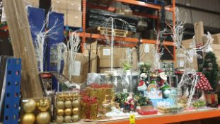 APPROX 100 PIECE MIXED PREMIER CHRISTMAS LOT CONTAINING, LED ROSE FLOWER TREE, ACRYLIC STANDING