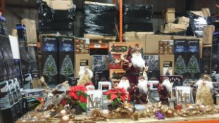 APPROX 60 PIECE MIXED PREMIER CHRISTMAS LOT CONTAINING, FIBRE OPTIC CHRISTMAS TREES, 1.2M LED