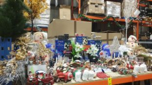 APPROX 75 PIECE MIXED PREMIER CHRISTMAS LOT CONTAINING, 40CM LIT ACRYLIC STAR, ACRYLIC SNOWMAN,