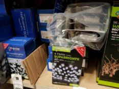 24 PIECE ASSORTED BRAND NEW PREMIER LIGHT LOT CONTAINING 5 X 288 LED MULTI ACTION SUPABRIGHTS, 4 X