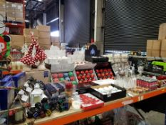 APPROX 340+ PIECE ASSORTED BRAND NEW PREMIER CHRISTMAS LOT CONTAINING SHATTERPROOF DECORATIONS,