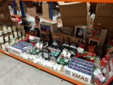 APPROX 200+ PIECE ASSORTED BRAND NEW PREMIER CHRISTMAS LOT CONTAINING ANIMATED VILLAGE SCENE, 1.5M