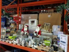 APPROX 150+ PIECE ASSORTED BRAND NEW PREMIER CHRISTMAS LOT CONTAINING 65CM SANTA WITH ACCORDION,