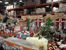 APPROX 120+ PIECE ASSORTED BRAND NEW PREMIER CHRISTMAS LOT CONTAINING STANDING DEER ORNAMENTS,