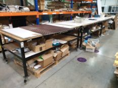 4 X MOBILE WORK/SET OUT BENCHES