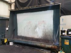 NATGRAPH SCREEN CLEANING BOOTH 10' X 8' WITH LAVOR DAN B10 JET WASH