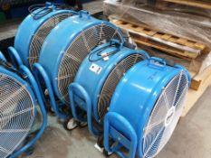 4 X CLARKE INDUSTRIAL AIR FLOOR FANS