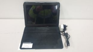 "SAMSUNG TABLET 10"" SCREEN 16GB STOARGE INCLUDES CASE AND CHARGER"