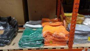APPROX 270 X CHAIR COVERS IN ORANGE, WHITE AND GREEN