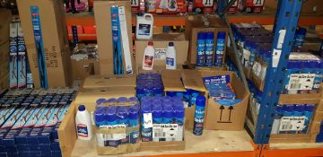 APPROX 200 X MIXED AUTOMOBILE ACESSORIE'S TO INCLUDE - (BLUE COL) SUB ZERO DE-ICER, (BLUE COL)