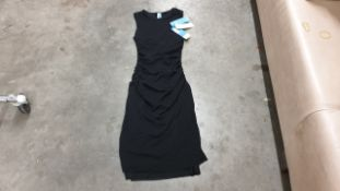 APPROX 13 X BRAND NEW SPANX DRAPED DRESS IN COLD BLACK IN VARIOUS SIZES