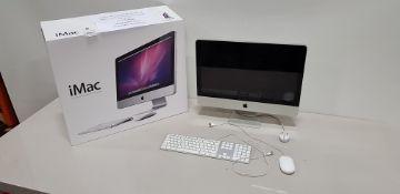 BOXED APPLE IMAC ALL IN ONE PC INTEL CORE I5 2.5GHZ PROCESSOR APPLE O/S 21.5 SCREEN 500GB HARD DRIVE