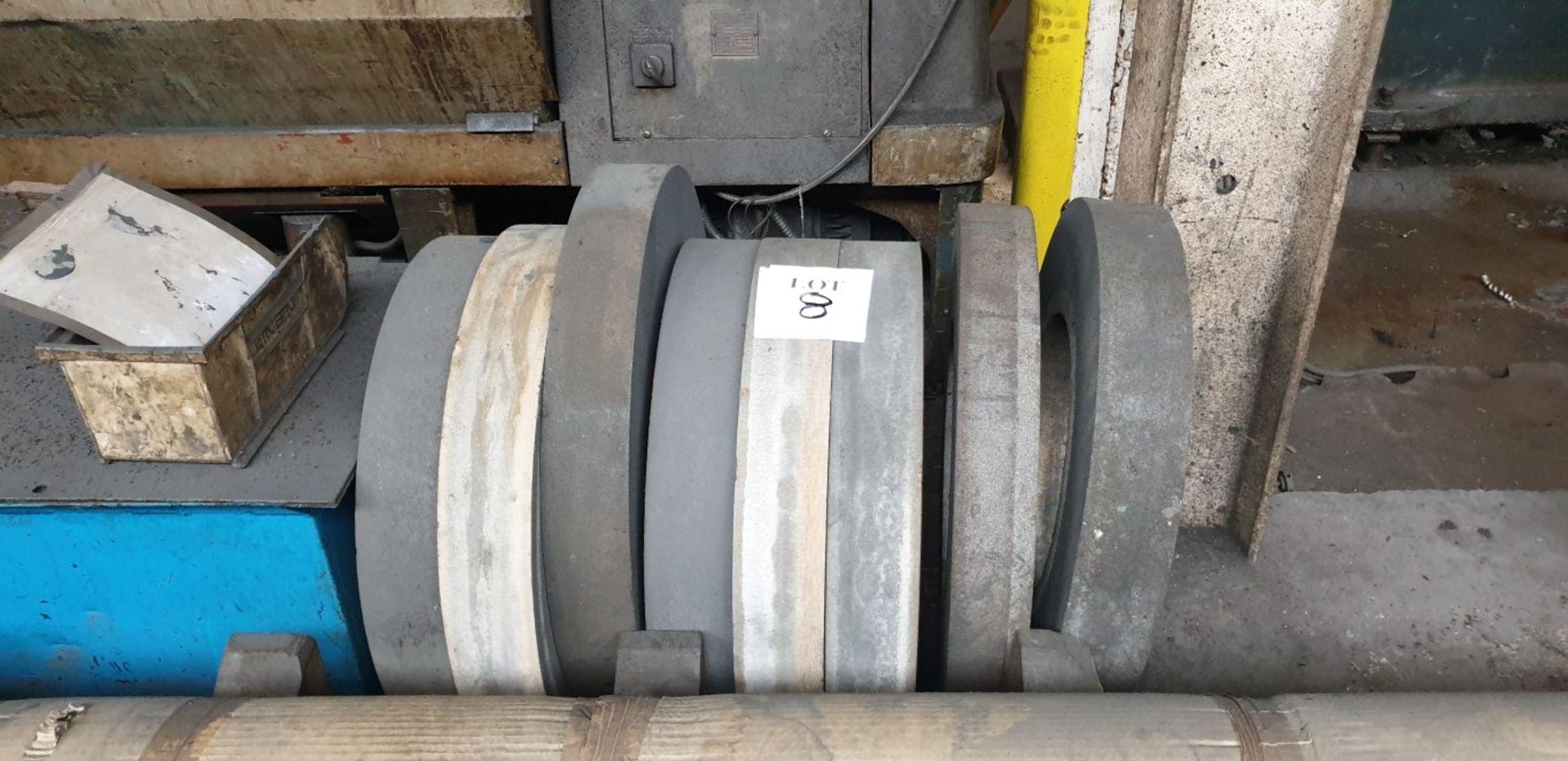 Lot 8 - 8 - large diameter grinding wheels, 305mm bore