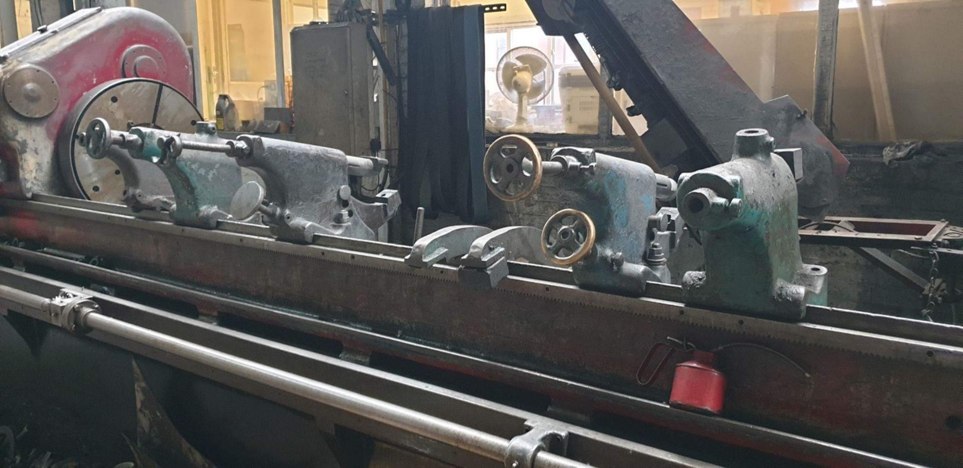 """Lot 4 - Churchill cylindrical grinder, 24"""" swing x 18' centres with linishing attachment, 7 steadies (Method"""