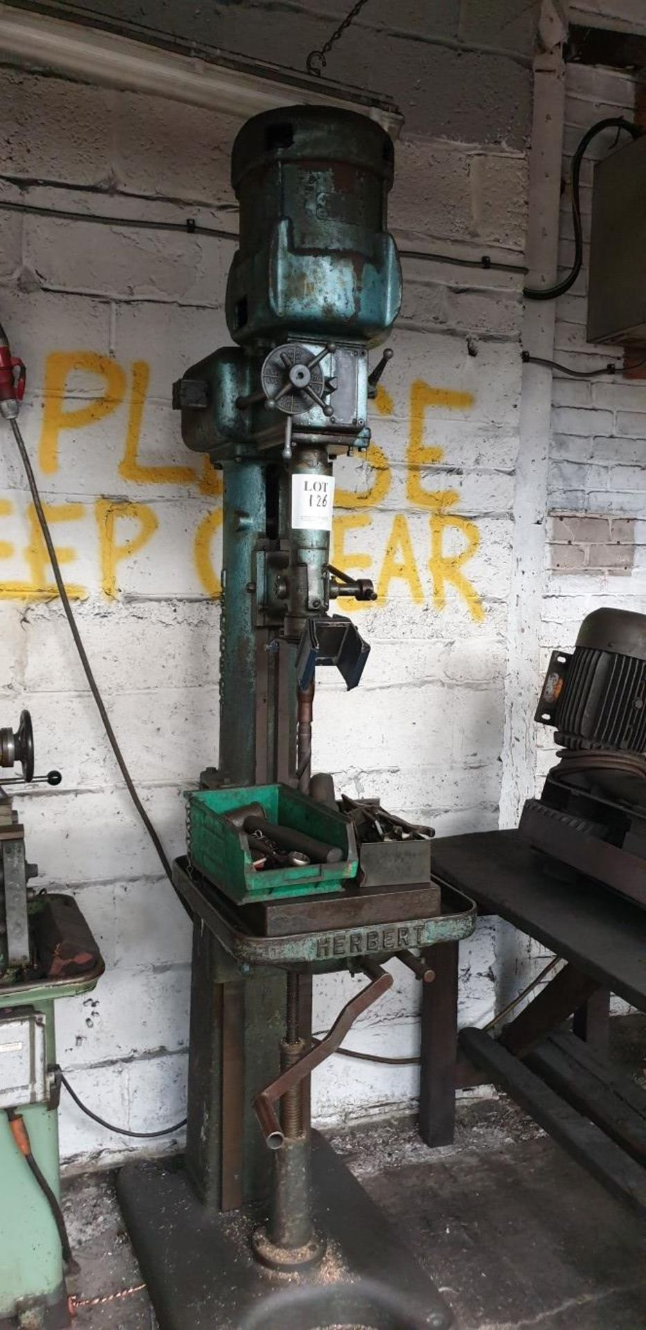 Lot 126 - Herbert pillar drill
