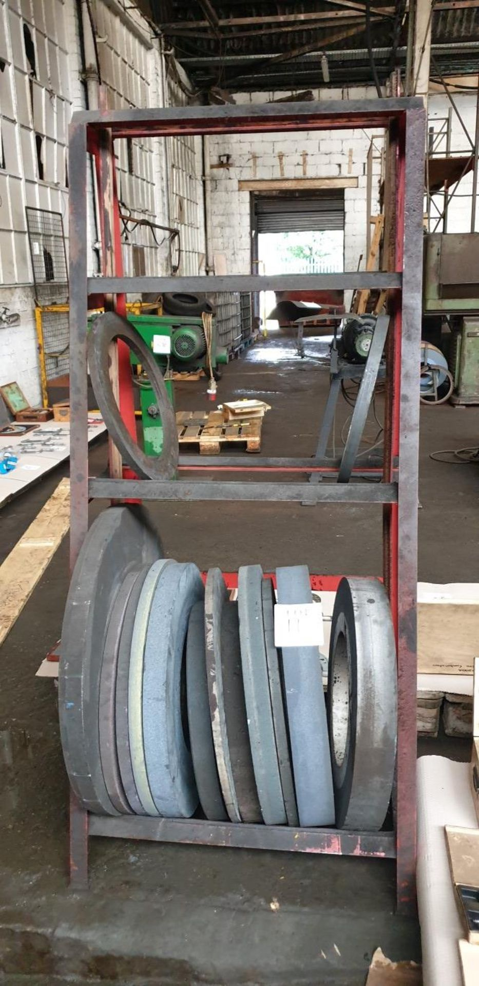 Lot 11 - 12 - large diameter grinding wheels, 305mm bore