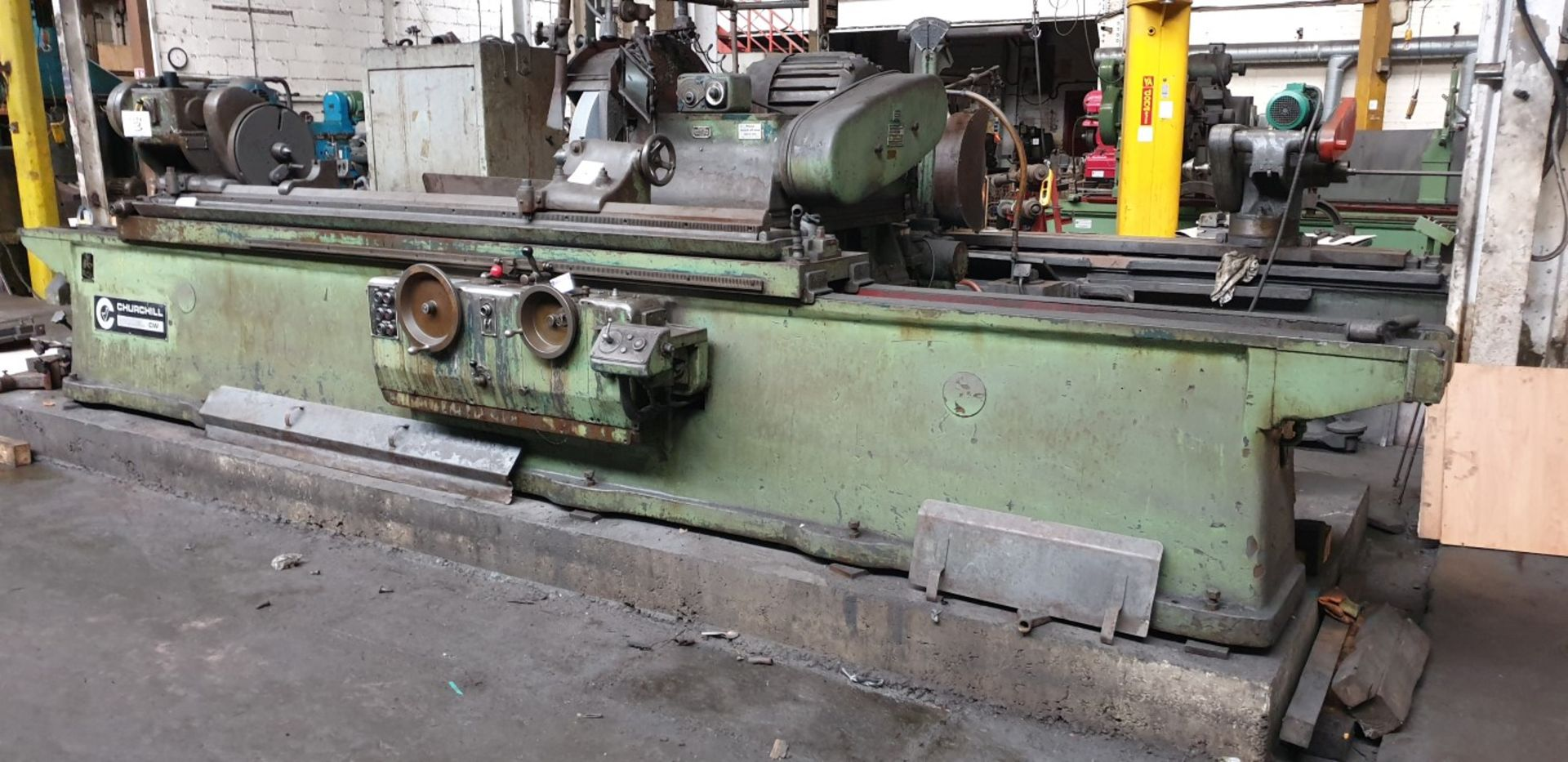 "Lot 3 - Churchill CW cylindrical grinder, 18"" swing x 7' centres with 5 steadies (Method statement and"