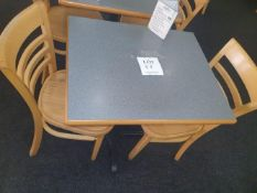 Two seater table with 2 - chairs
