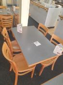 Four seater table with 4 - chairs